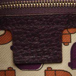 Gucci Purple Hasler Horesebit Leather Bag