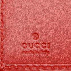 Gucci Red Diamante Leather Wallet