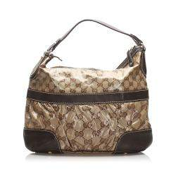 Gucci Brown GG Crystal Shoulder Bag