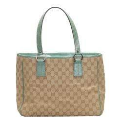 Gucci Vintage GG Canvas Tote Bag