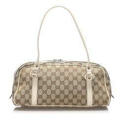 Gucci Brown GG Canvas Twins bag