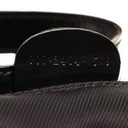 Gucci Black Nylon Bamboo Vintage Bag