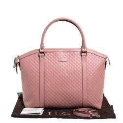 Gucci Pink Microguccissima Leather Dome Satchel