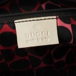 Gucci Off White Leather Duchessa Boston Bag