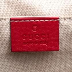 Gucci Red Leather Soho Disco Crossbody Bag