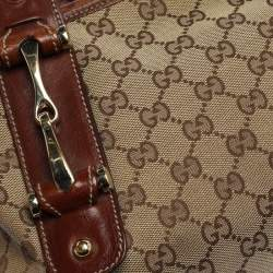 Gucci Beige/Brown GG Canvas and Leather Pelham Tote