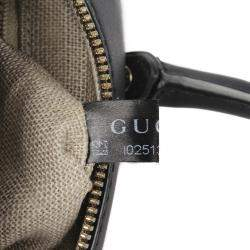 Gucci Black Microguccissima Leather Dome Bag