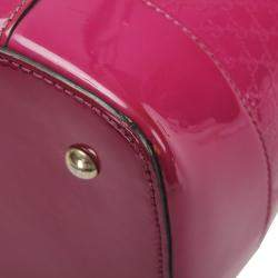 Gucci Pink Microguccissima Patent Leather Nice Medium Bag