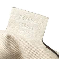 Gucci White Leather Small Web Horsebit Heritage Hobo