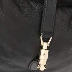 Gucci Black Leather Medium New Jackie Hobo Bag