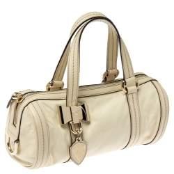 Gucci Light Cream Leather Small Duchessa Boston Bag