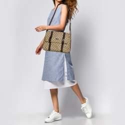 Gucci Beige/Brown GG Supreme Canvas Messenger Bag