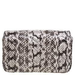 Gucci Multicolor Matelasse Python Mini GG Marmont Shoulder Bag