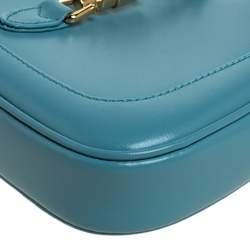 Gucci Turquoise Leather Mini 1961 Jackie Hobo