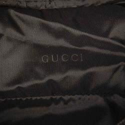 Gucci Grey Python Print Nylon Pouch