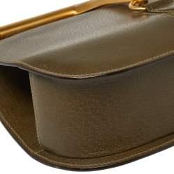 Gucci Olive Green Leather Vintage Horsebit Doctor's Bag