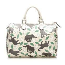 Gucci Multicolor Leather UNICEF Medium Boston Bag