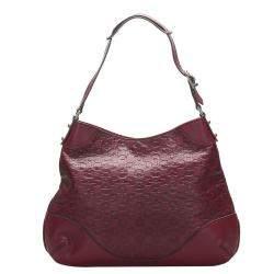 Gucci Red Horsebit Leather Shoulder Bag