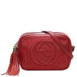 Gucci Red Soho Disco Leather Crossbody Bag