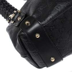 Gucci Black Guccissima Leather Medium Pelham Shoulder Bag