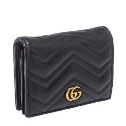 Gucci Black Leather GG Marmont Wallet