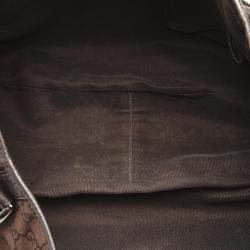 Gucci Brown/Dark Brown GG Canvas Pelham Tote Bag