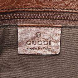 Gucci Black/Brown GG Canvas Horsebit Shoulder Bag