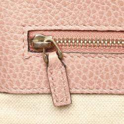 Gucci Pink Leather Swing Tote Bag