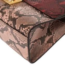 Gucci Multicolor Python Medium Padlock Shoulder Bag