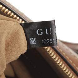Gucci Brown GG Supreme Canvas Satchel Bag