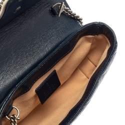 Gucci White/Blue Quilt Leather Mini GG Torchon Shoulder Bag