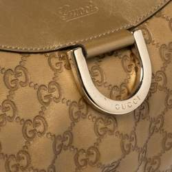 Gucci Golden Brown Guccissima Leather D Ring Hobo