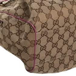 Gucci Pink GG Canvas and Leather Medium Sukey Tote