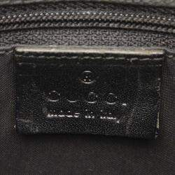 Gucci Black Bamboo Nylon Top Handle Bag