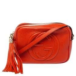 Gucci Orange Leather Soho Disco Shoulder Bag