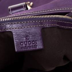 Gucci Purple Suede And Leather Embellished Large Jackie O' Bouvier Hobo