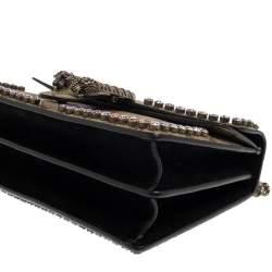 Gucci Beige/Black GG Supreme Canvas Small Dionysus Shoulder Bag