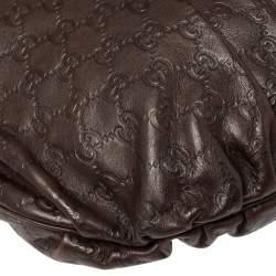 Gucci Brown Guccissima Leather Large Hysteria Hobo