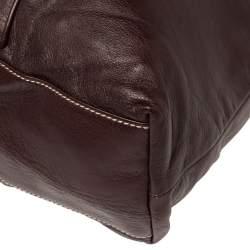 Gucci Dark Burgundy Leather Braided Strap Shoulder Bag