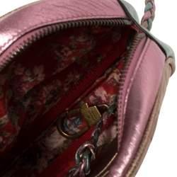 حقيبة كروس غوتشي ترابونتاتا صغيرة جلد مبطن ثلاثي اللون