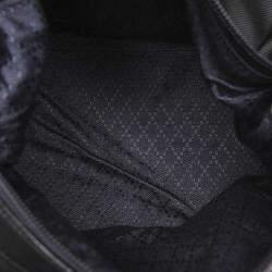 Gucci Black Nylon Bamboo Top Handle Bag