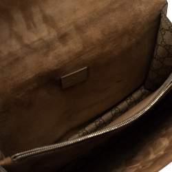Gucci Beige/Brown GG Supreme Canvas and Suede Medium Dionysus Shoulder Bag