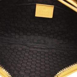 Gucci Yellow Leather Half Moon Hobo bag
