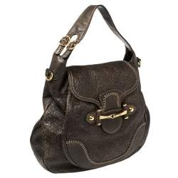 Gucci Brown Guccissima Leather Large New Pelham Hobo