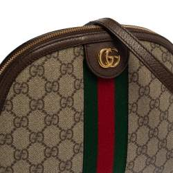 Gucci Beige/Ebony GG Supreme Canvas and Leather Small Ophidia Crossbody Bag