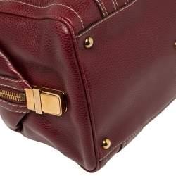 Gucci Red Grain Leather Medium Aviatrix Boston Bag