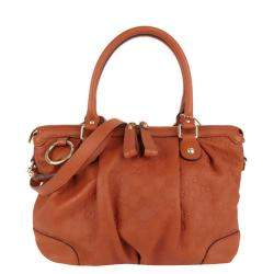 Gucci Brown Guccissima Leather Sukey Satchel Bag