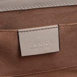 Gucci White/Black Guccissima Leather Small Padlock Shoulder Bag