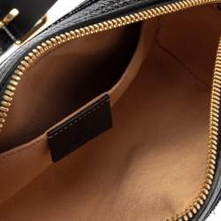 Gucci Blue Suede and Patent Leather GG Ophidia Belt Bag