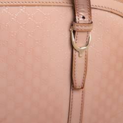 Gucci Dusty Pink Microguccissima Patent Leather Nice Dome Satchel